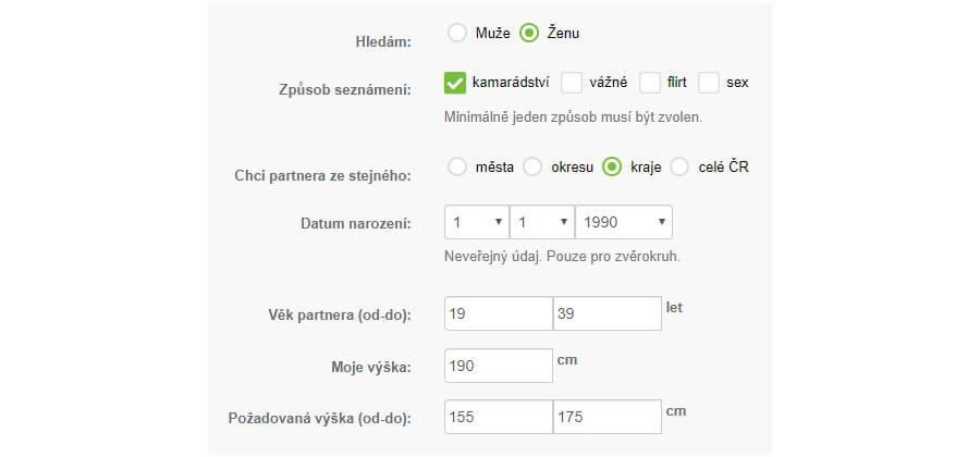 Výběr uživatelského jména pro seznamovací weby