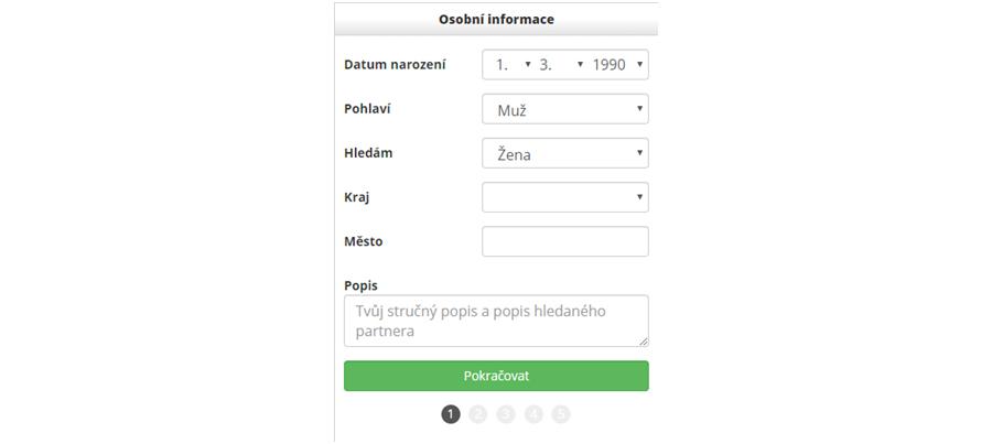 Seznamka XXXdating.cz nastavení profilu